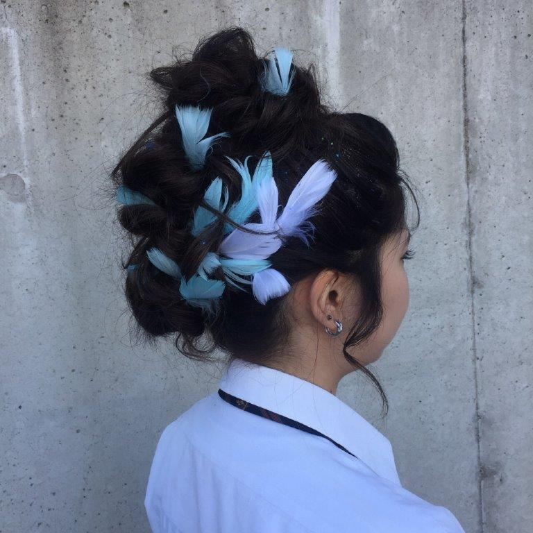 キレイ系盛り髪