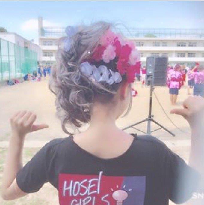 盛り髪×リボン×お花