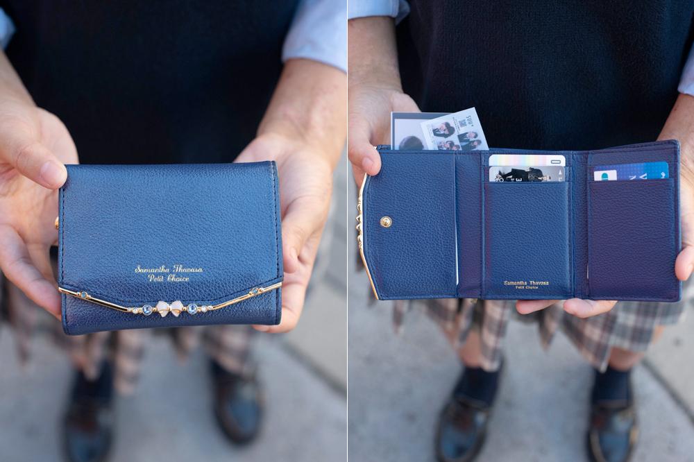 落ち着いたカラーの財布