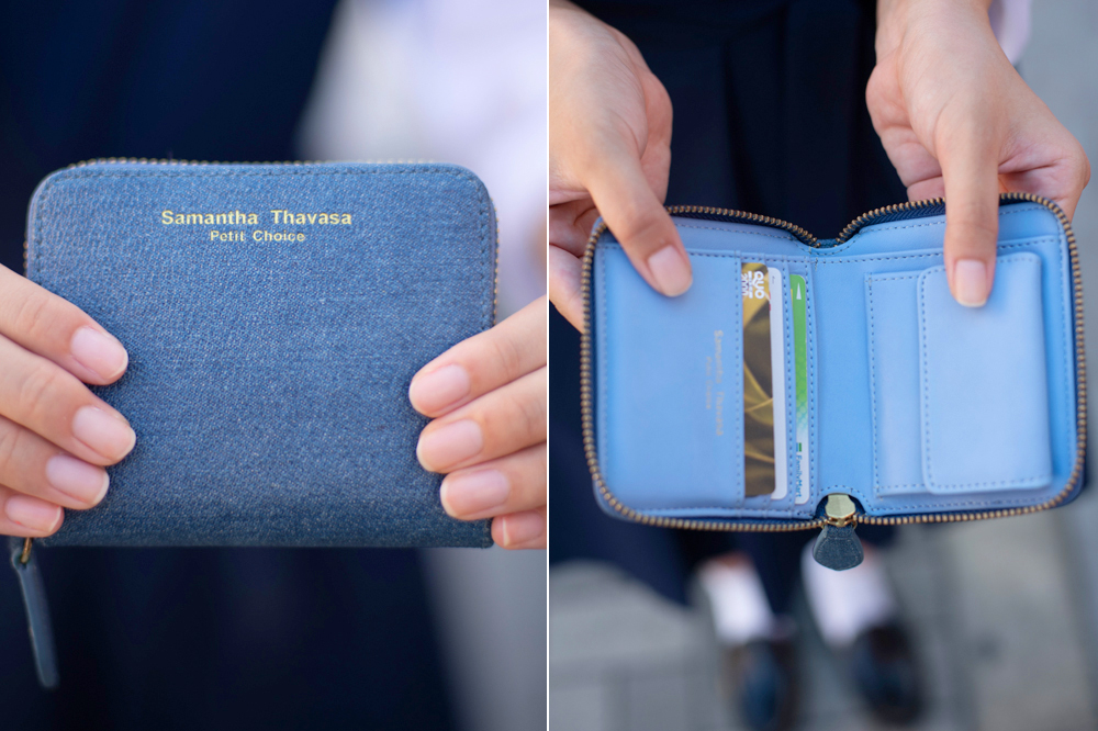 デニム風のサマンサの財布