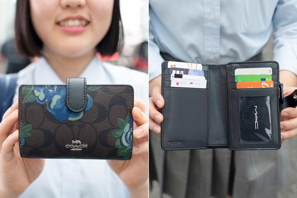 シックな花柄の財布