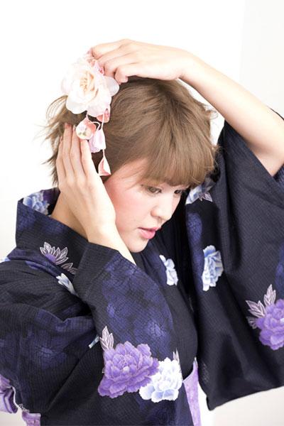 花火大会でキメる 浴衣に合うヘアアレンジ ショート編